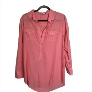J Crew loose flowy Tunic Blouse comfy pink